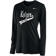 Keizer - Black 07: Nike Women's Legend Long-Sleeve Training Top - Black with White Logo