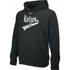 Keizer - Black 10: Adult-Size - Nike Team Club Men's Fleece Training Hoodie - Black with White Logo
