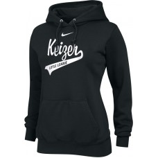 Keizer - Black 12: Nike Team Club Women's Fleece Training Hoodie - Black with White Logo