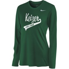 Keizer - Green 07: Nike Women's Legend Long-Sleeve Training Top - Green with White Logo