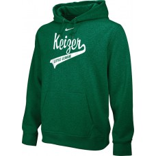 Keizer - Green 10: Adult-Size - Nike Team Club Men's Fleece Training Hoodie - Green with White Logo