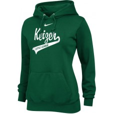 Keizer - Green 12: Nike Team Club Women's Fleece Training Hoodie - Green with White Logo