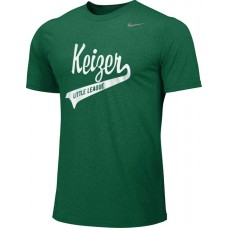 Keizer - Green 02: Adult-Size - Nike Team Legend Short-Sleeve Crew T-Shirt - Green with White Logo