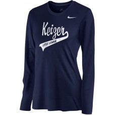 Keizer - Navy 07: Nike Women's Legend Long-Sleeve Training Top - Navy with White Logo