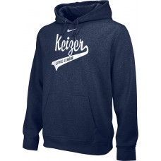 Keizer - Navy 10: Adult-Size - Nike Team Club Men's Fleece Training Hoodie - Navy with White Logo
