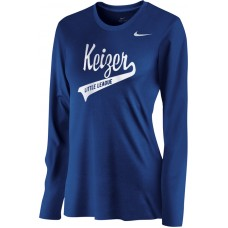 Keizer - Royal 07: Nike Women's Legend Long-Sleeve Training Top - Royal with White Logo