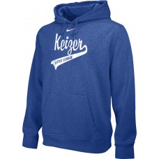 Keizer - Royal 10: Adult-Size - Nike Team Club Men's Fleece Training Hoodie - Royal with White Logo