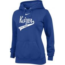 Keizer - Royal 12: Nike Team Club Women's Fleece Training Hoodie - Royal with White Logo