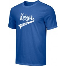 Keizer - Royal 09: Youth-Size - Nike Combed Cotton Core Crew T-Shirt - Royal with White Logo