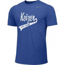 Keizer - Royal 02: Adult-Size - Nike Team Legend Short-Sleeve Crew T-Shirt - Royal with White Logo
