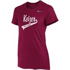 Keizer - Cardinal 04: Nike Women's Legend Short-Sleeve Training Top - Cardinal with White Logo