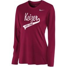 Keizer - Cardinal 07: Nike Women's Legend Long-Sleeve Training Top - Cardinal with White Logo