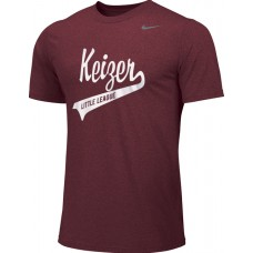 Keizer - Cardinal 02: Adult-Size - Nike Team Legend Short-Sleeve Crew T-Shirt - Cardinal with White Logo