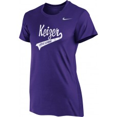 Keizer - Purple 04: Nike Women's Legend Short-Sleeve Training Top - Purple with White Logo