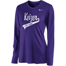 Keizer - Purple 07: Nike Women's Legend Long-Sleeve Training Top - Purple with White Logo