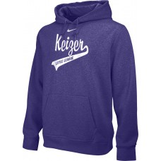 Keizer - Purple 10: Adult-Size - Nike Team Club Men's Fleece Training Hoodie - Purple with White Logo