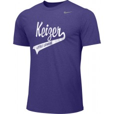 Keizer - Purple 02: Adult-Size - Nike Team Legend Short-Sleeve Crew T-Shirt - Purple with White Logo