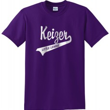 Keizer - Purple 08: Gildan Heavy Cotton Crew T-Shirt -Purple with White Logo