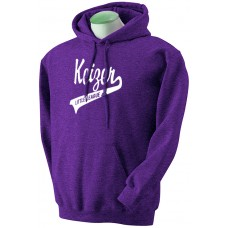 Keizer - Purple 11: Youth-Size - Gildan 50/50 Fleece Training Hoodie - Purple with White Logo