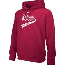 Keizer - Scarlet 10: Adult-Size - Nike Team Club Men's Fleece Training Hoodie - Scarlet with White Logo