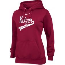 Keizer - Scarlet 12: Nike Team Club Women's Fleece Training Hoodie - Scarlet with White Logo